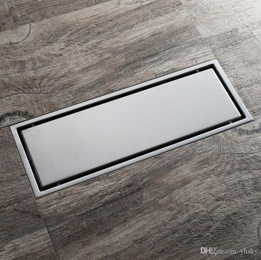 30 cm x 11 cm Moderna In Ottone griglia forma Bagno Rifiuti da Pavimento Griglia Doccia Scolapiatti Scolapiatti Bagno di Scarico A Pavimento HIDL119