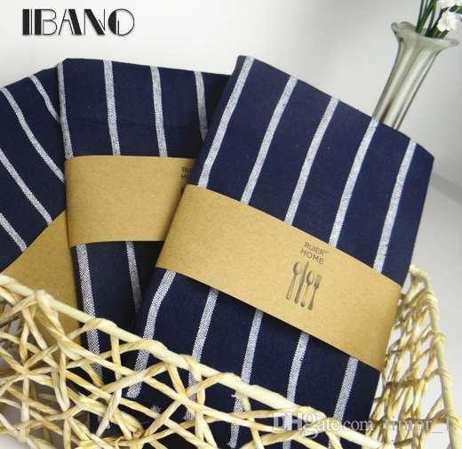 2pcs/lot Cotton Table Napkin Dark Blue Kitchen Towel Dish Towel Cleaning Cloth 40x60cm Tea Towel Printed durable pano de prato