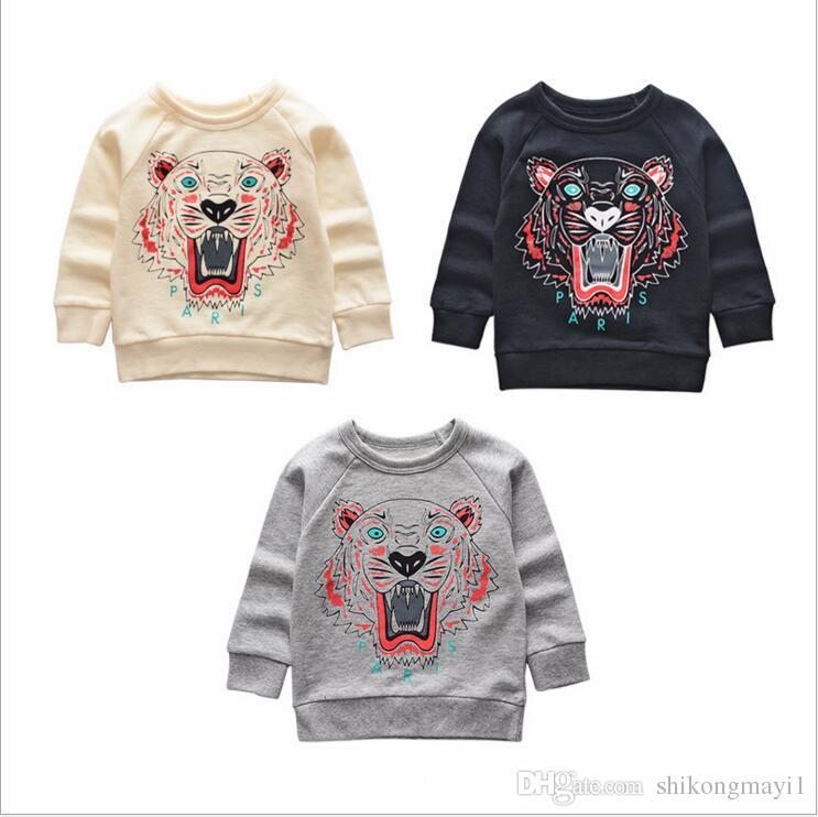 Ragazzi ragazzi Camicia Moda bambini Autunno Primavera Moda a maniche lunghe T-shirt in cotone a righe per bambini Ragazzi Tee
