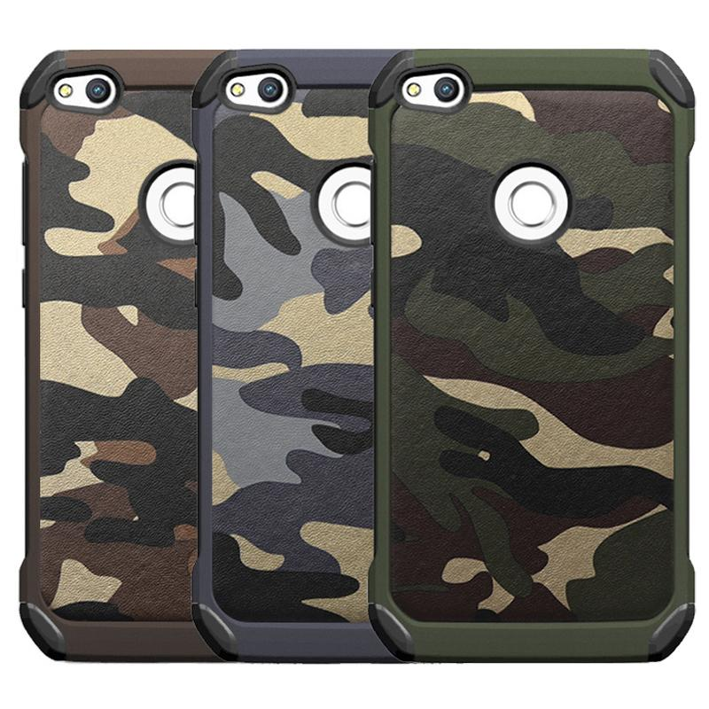 For Huawei P8 P9 P10 Lite Case Camouflage Back Cover For Huawei P8 ...