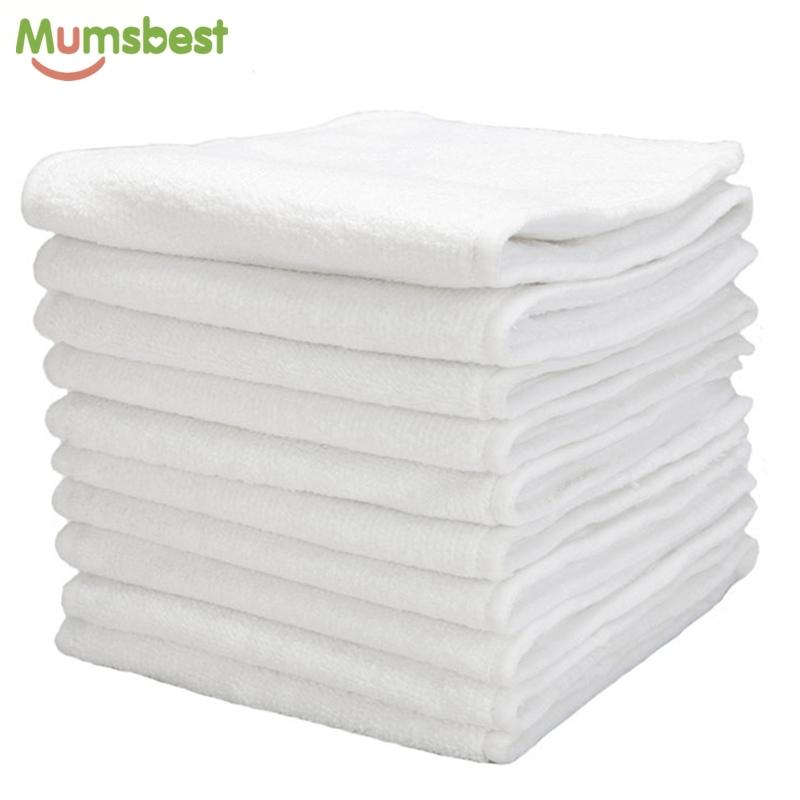 10 Pcs Washable Reuseable Baby Cloth Nappy Nappies Wholesale Inserts Microfiber 3 Layers Diapers