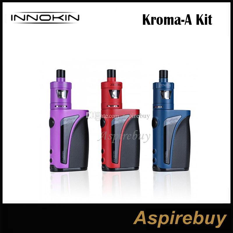 Innokin Kroma-A Kit 75W Kroma A Box Mod. Con 4ml Zenith Tank 0.5ohm Plexus Z Coil Kit MTL instalado Top Fill Design 100% Original