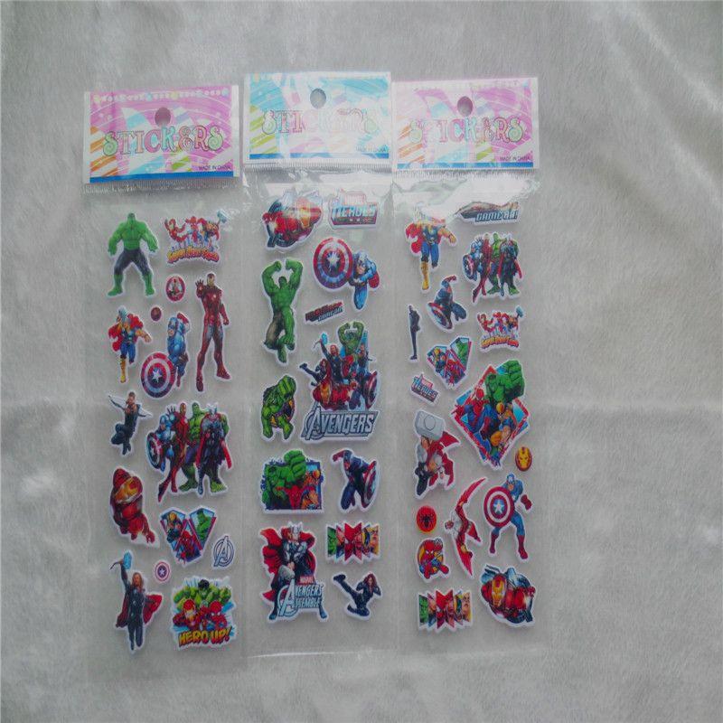 100pcs Avengers captain America Cartoon bubbles stickers, 3D Avengers Hulk DIY Wall sticker for Kids Birthday Gift Toys stickers