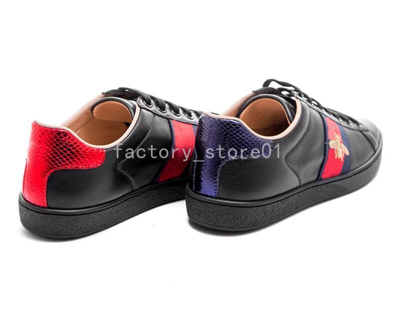 2020 Erkekler Kadınlar Sneaker Günlük Ayakkabılar Düşük Üst Deri Sneakers Ace Arı Çizgili Ayakkabı Yürüyüş Düz Eğitmenler Drop Shipping