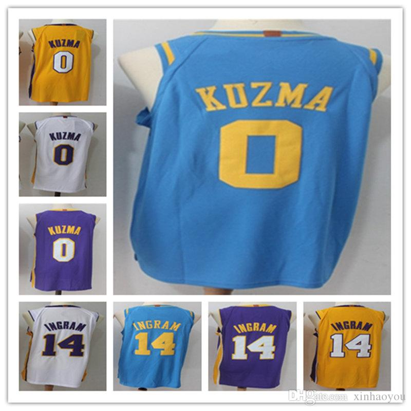 the latest c4762 9b146 2018 2018 New Men 14# Brandon Ingram Basketball Jerseys 0# Kyle Kuzma  Jersey Stitched Ingram Kuzma Black Yellow Basketball Jerseys Shirt From ...