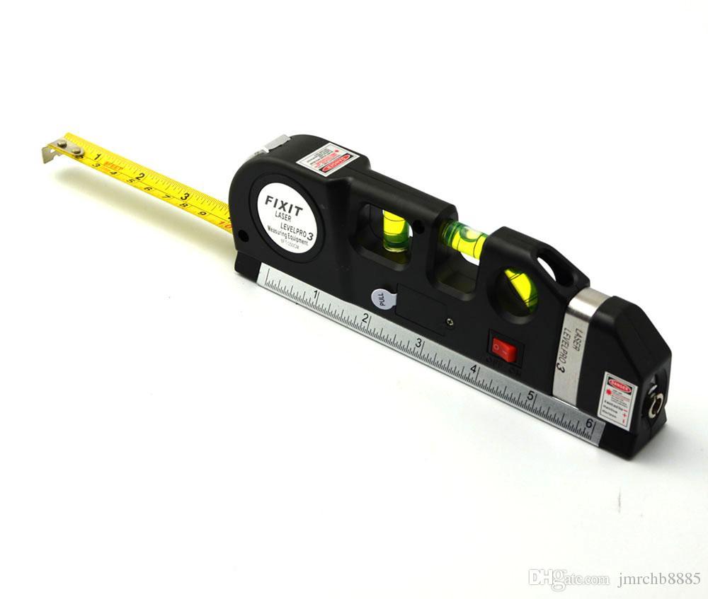 Nivel láser de alto rendimiento, láser multipropósito, línea de medida 8 pies + regla de cinta de medida Reglas estándar y métricas ajustadas