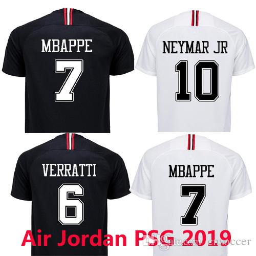 sports shoes e9b37 b9114 Maillot 2019 Foot Shirt Fan From Black 3rd Mbappe Football ...