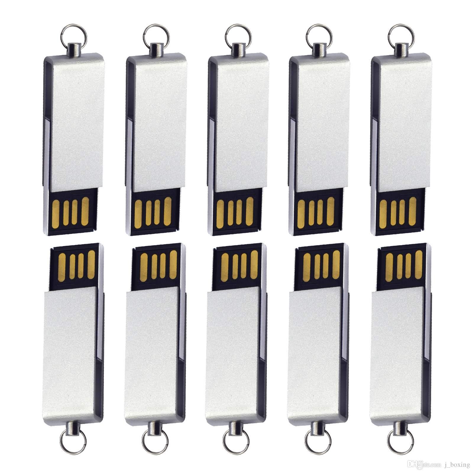Free Shipping Bulk 10PCS 4GB Mini Swivel USB 2.0 Flash Drives Rotating Pen Drives Thumb Storage for PC Macbook USB Memory Stick Colorful