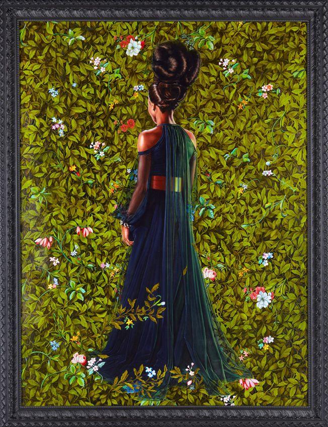 Prinzessin Victoire von Sachsen-Coburg-Gotha Kehinde Wiley-Malerei-Kunst-Plakat-Wand-Dekor Bilder Art PosterUnframe 16 24 36 47 Zoll drucken