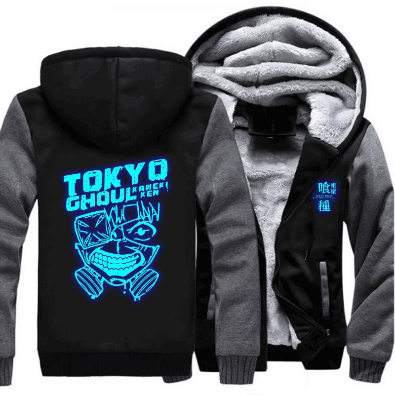 Anime Tokyo Ghoul sudadera con capucha para hombre sudaderas con capucha espesa sudadera abrigo chaqueta traje de cosplay precio al por mayor