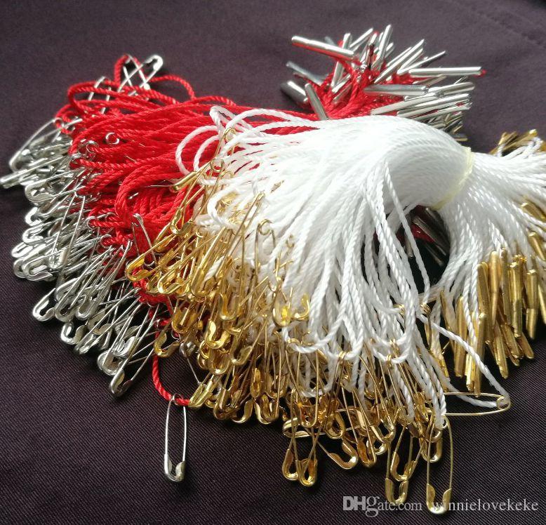 1000 PCs par paquet / boucle de ficelle de vêtement / joint de ficelle / vêtement étiquette volante sling // goupilles de sécurité en cuivre