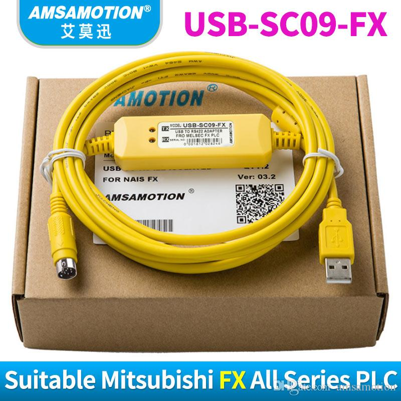 PLC Programming Cable USB-SC09-FX For Mitsubishi MELSEC FX PLC to RS422 Adapter