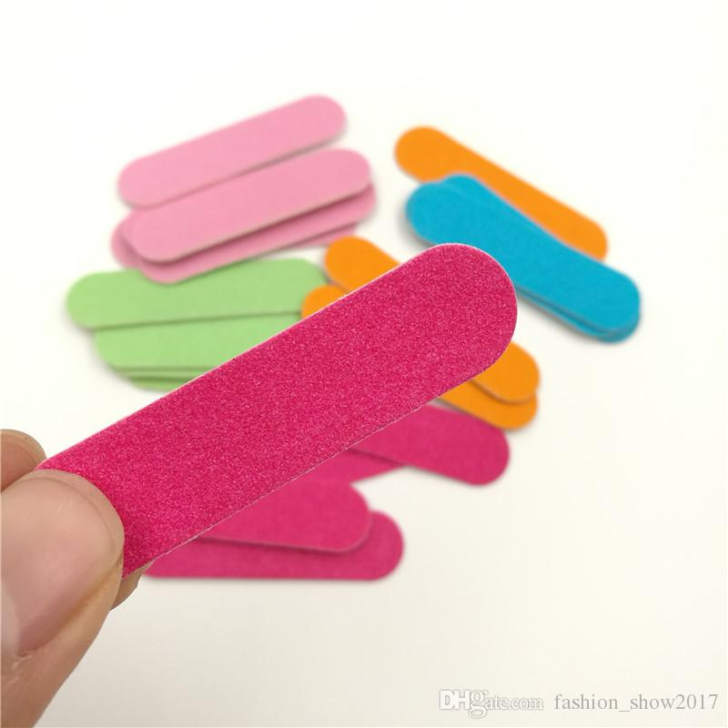 Coloré Mini Professionnel Nails Fichiers Art Outils Sable Emery Conseil Papier De Verre Tampon À Ongles Recto-Verso Grit Nail Art