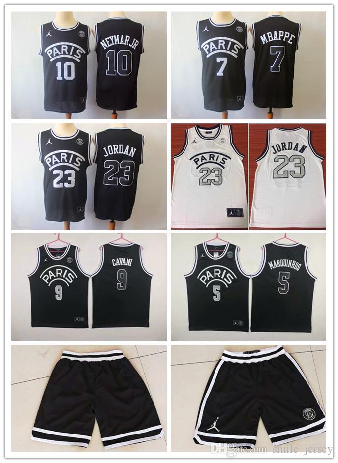 22578548622 2019 2019 New Mens PSG Paris Basketball Jersey 23 Michael JD 10 NEYMAY JR 7  MBAPPE 9 Cavani 5 Masrouinhos Paris Basketball Jerseys Paris Shorts From ...