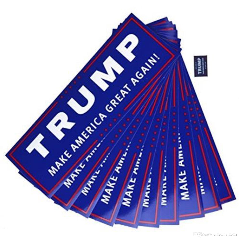 Mavi ABD Başkanlık Seçim Trump Tampon Araba Çıkartmaları Ile 23 * 7.6 cm Araba Tampon Çıkartmaları Yazı Donald Trump Başkan Çıkartmalar cny736