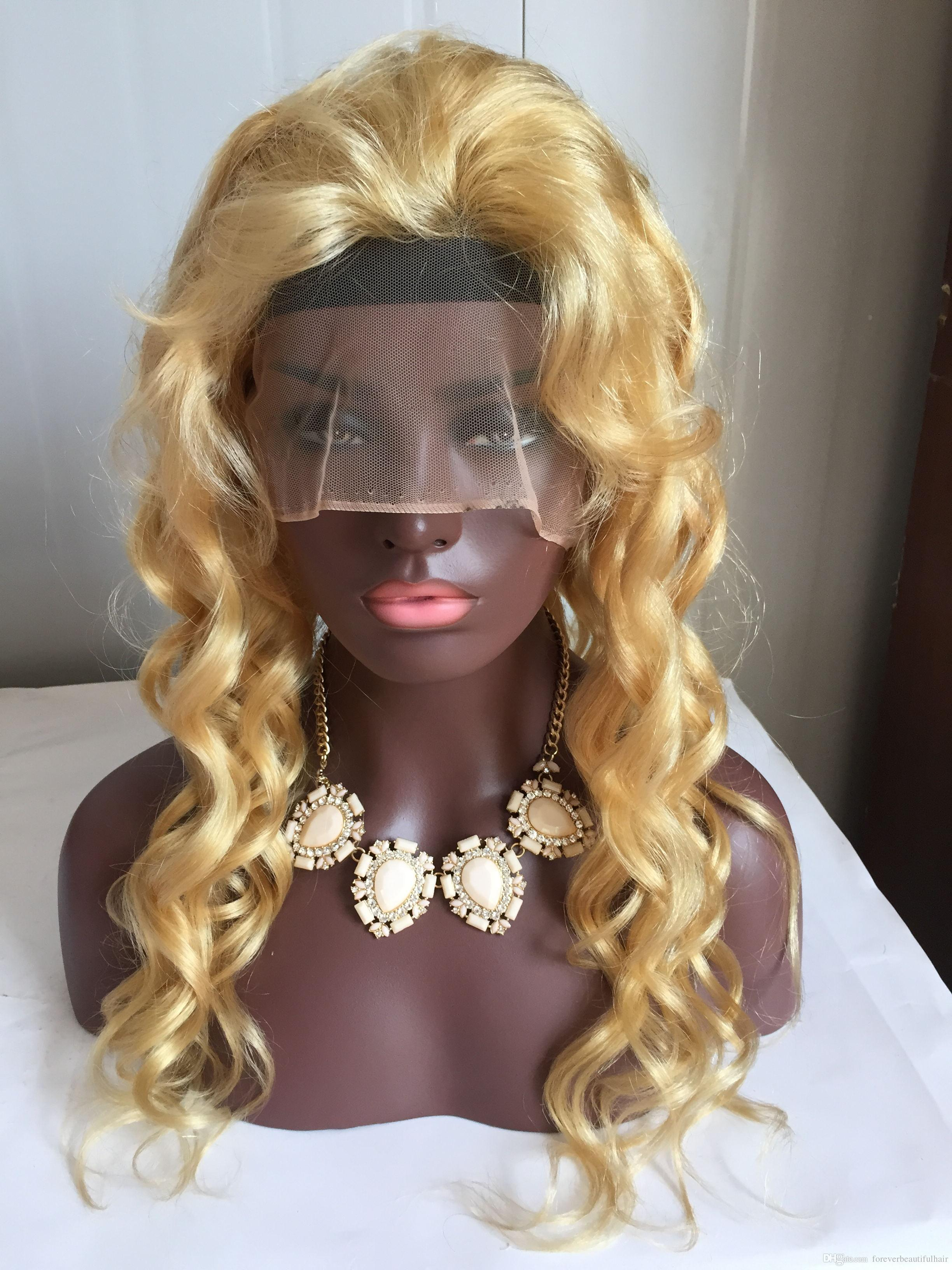 613 Blonde Color Brazilian Virgin Hair Wig Loose Wave Lace Front Human Hair Wigs Pre Plucked Hairline Lace Wig