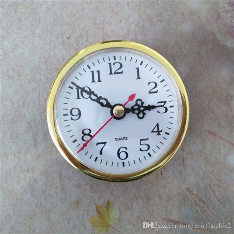 5 Stuks Gouden RIM Out Face Diameter 80mm Quartz Insert Clock Ingebouwde DIY Reparatie Onderdelen