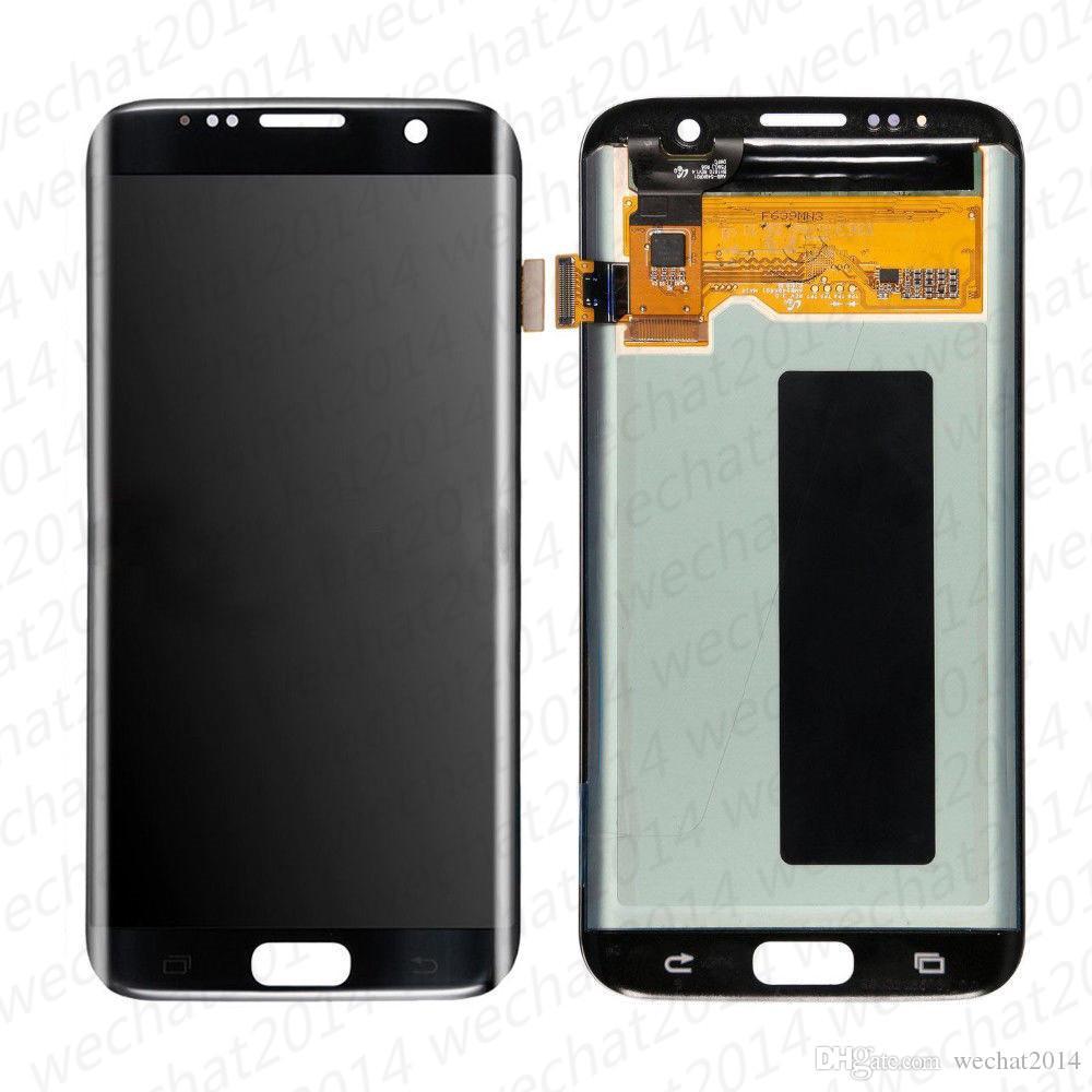 Display lcd touch screen digitador assembléia peças de reposição para samsung galaxy s7 edge g935 amouled g935a g935