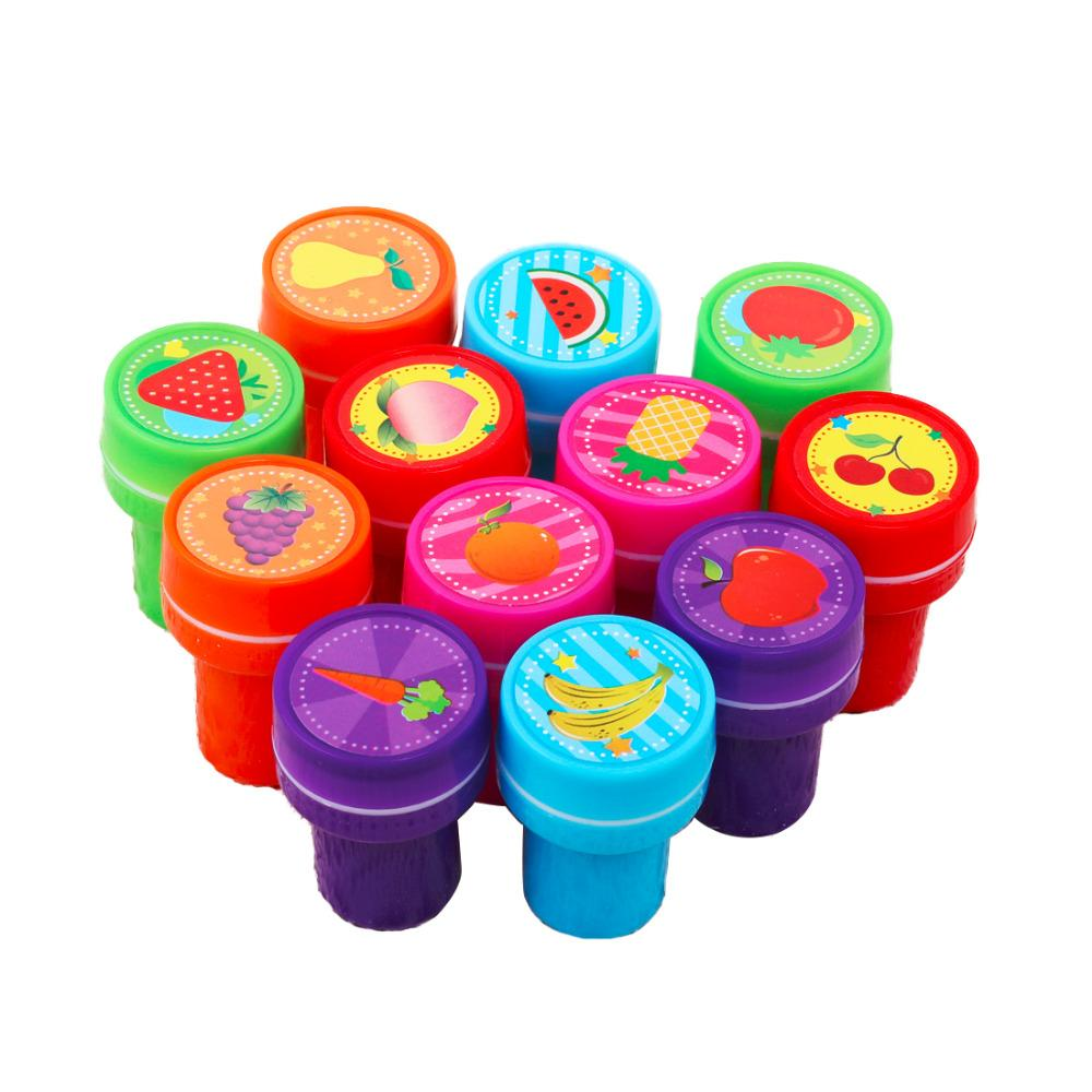 Gift 12PCS Self-ink Stamps Kids Party Favors Event Supplies for Birthday Party Toys Boy Girl Goody Bag Pinata Fillers