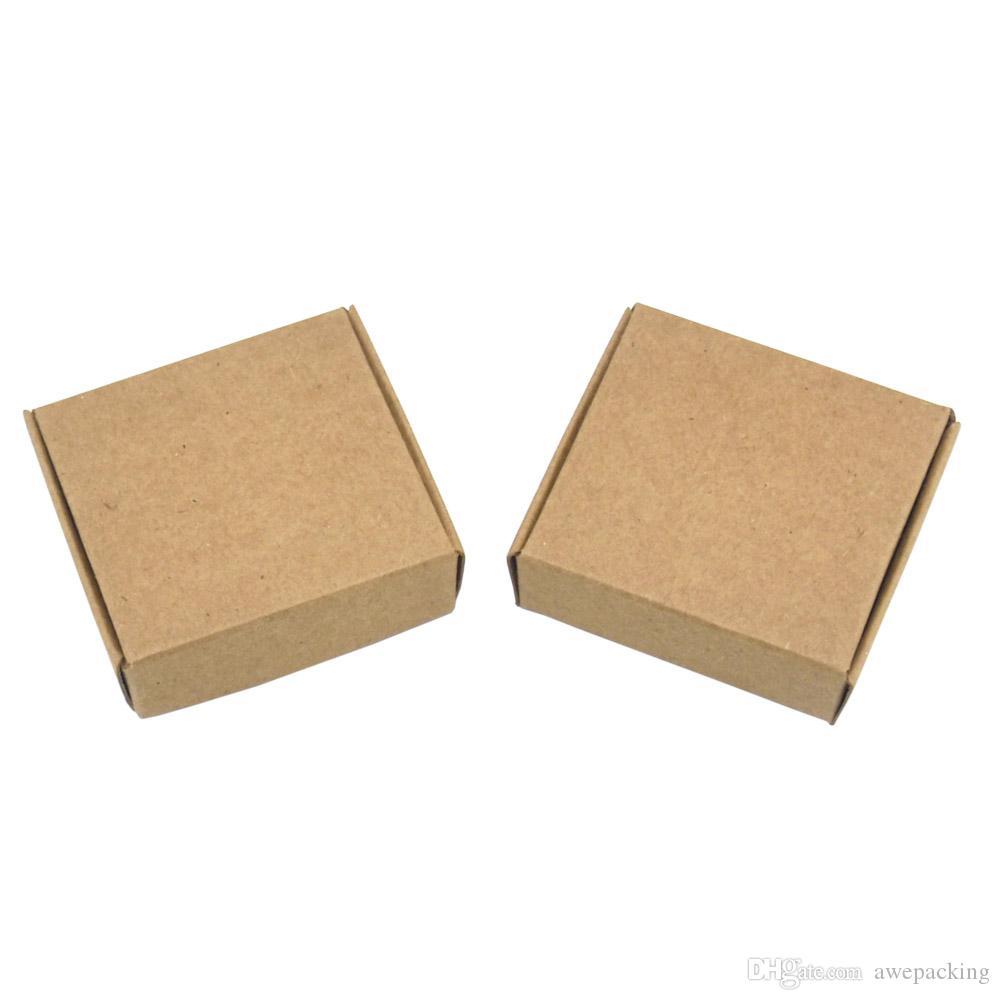 50 шт. / лот 6.2*5.8*2 см крафт-бумага упаковка коробка свадьба подарок DIY упаковка коробка для DIY мыло ручной работы ювелирные изделия шоколад печенье конфеты