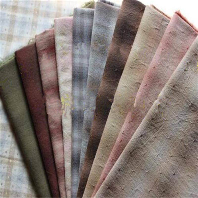 Fabric Yarn Dyed For Sewing Handmade Patchwork Materials 20 Pieces//Lot Cloth New