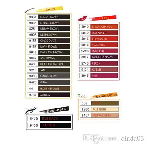 Encre de tatouage 25 couleurs Optionnel Maquillage Permanent Micro Pigment Cosmétique Encre tatouage Encre de Tatouage Permanent Sourcils Eyeliner Lèvres
