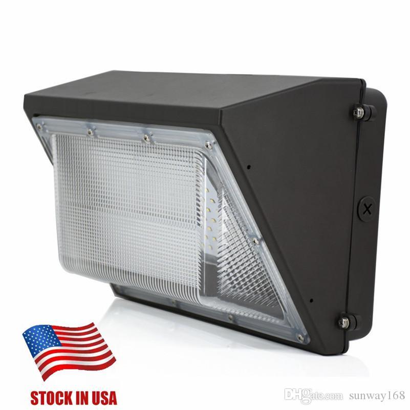 Сток в США AC110-277V 80W 100W 120W Светодиодная стена Света Светодиодная лампа на открытом воздухе Светодиодная настенная света, эквивалентная 400 Вт Традиционный валлиумный ламп