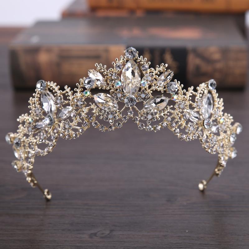 Bridal Princesse Cristal Strass Tiara Mariage Prom Couronne Couronne Peigne Bandeau SimpleLife Couronne De Mari/ée
