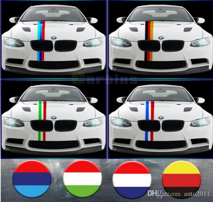 Tricolor Car Decoration Line Flag Color Sticker for BMW mini Rearview Mirror Hood Roof Tail Side Sleeve Covers Car Films 1 Meter