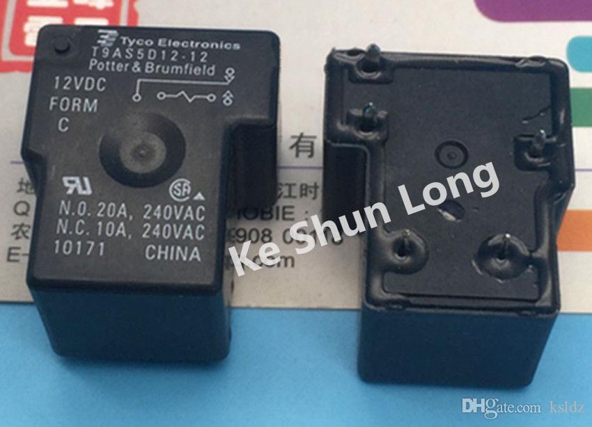 Lotto di trasporto libero (5 pezzi / lotto) originale Nuovo TE T9AS5D12-12 DIP-5 20A 12VDC Power Relay