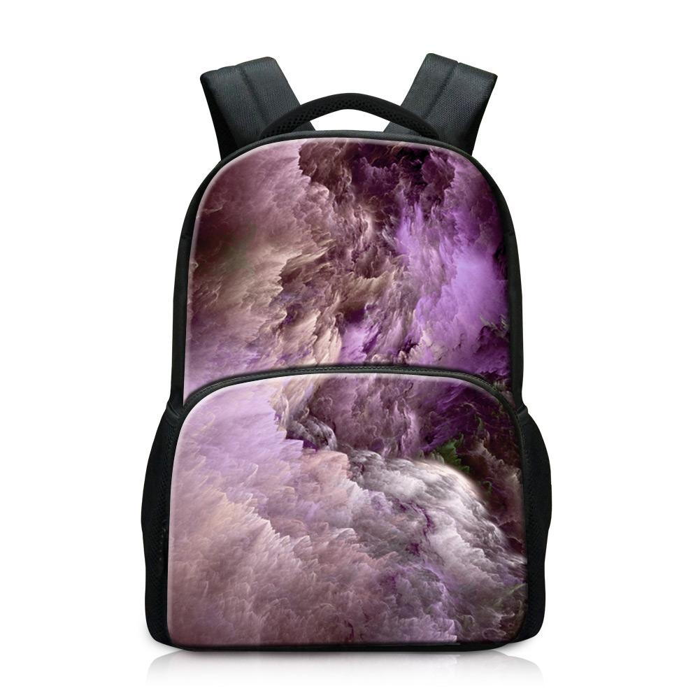 Very Good Laptop Backpacks Novel Computer Dailybags for College Students Cheap Name Brand Backpack for Men Print universe Pattern on Daypack