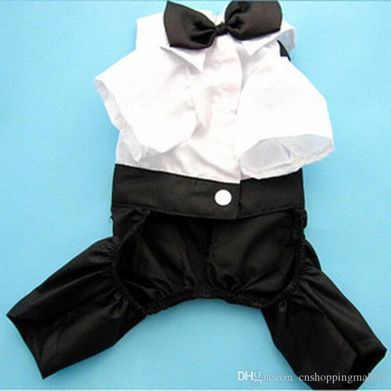 Western Style Men's Suit Bow Tie Small Pet Dog Clothes For Small Dogs Boy Puppy Apparel Jumpsuit Cheap Pet Clothes Drop Shipping