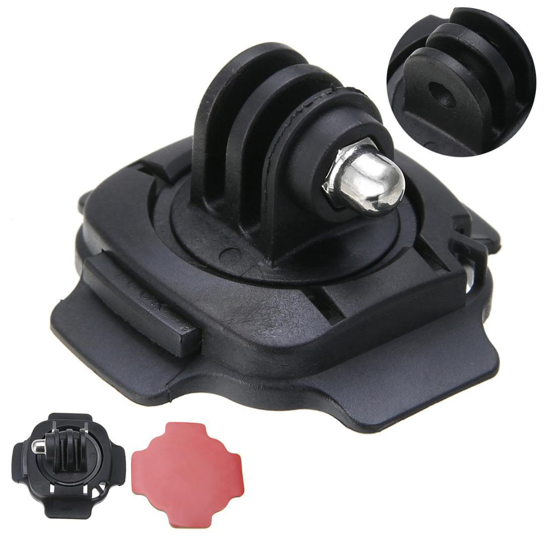 Casco de bloqueo de giro de 360 Grados Adaptador de montaje para todos los Gopro Hero 5//4//3 //3 sesión de 2