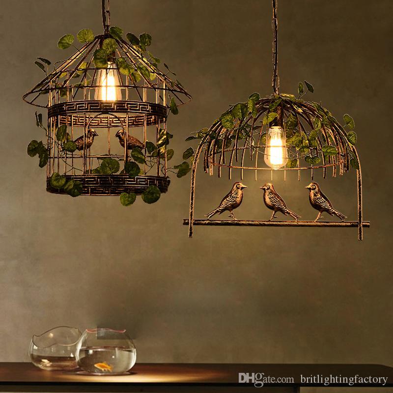 İskandinav Bitki Restoran Bar Yaratıcı Kolye Işık Retro Yemek Kuş Kafesi Asılı Lamba Kişiselleştirilmiş Stüdyo Çiçek Dekorasyon Sarkıt