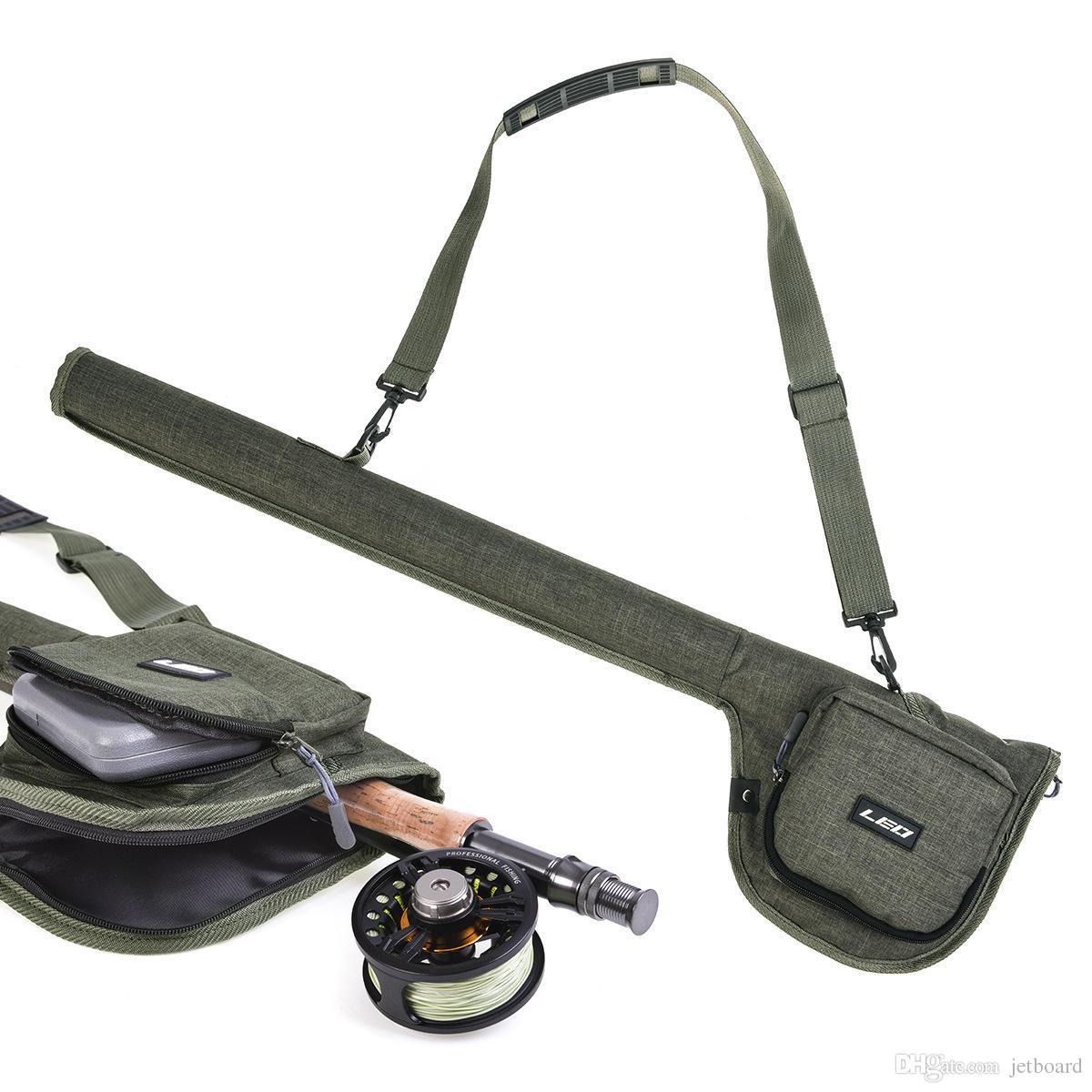 Leo 27991 32 بوصة المحمولة حقيبة الصيد قصبة الصيد حقيبة أدوات الصيد القطب حقيبة التخزين الناقل حقيبة