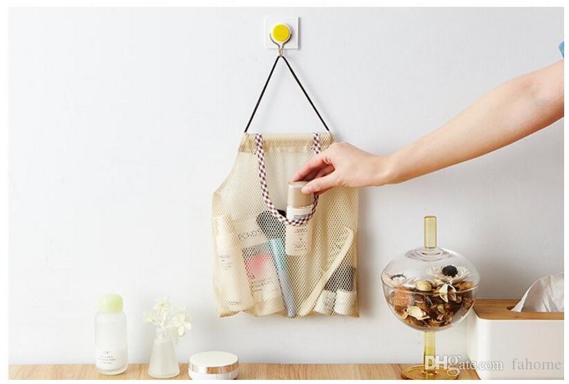 Ev Mesh Net Asılı Saklama Çantası Mutfak Meyve Sebze Saklama Torbaları-Çok Amaçlı Çanta Asmak Banyo Makyaj Bakkal çanta