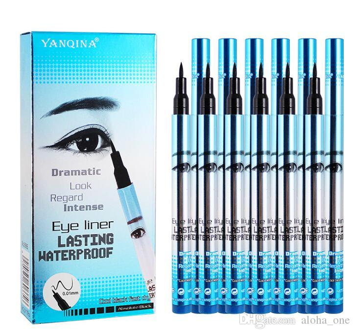 3 цвета YANQINA макияж подводка для глаз Карандаш водонепроницаемый карандаш для глаз ручка нет цветущей точности жидкий подводка для глаз 12 шт./компл.