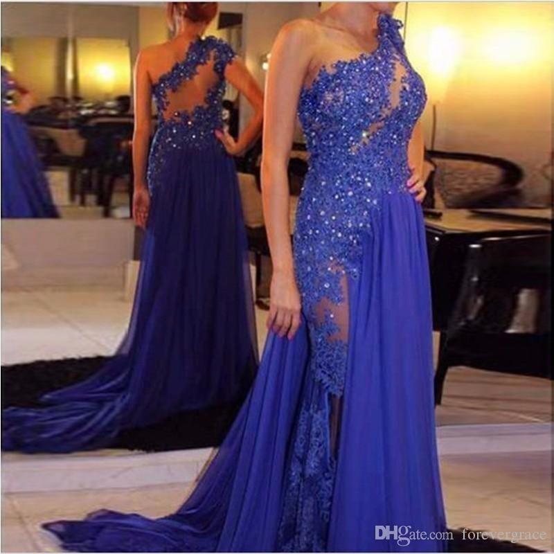 2019 королевские синие платья выпускного вечера новый дизайн аппликация длиной до пола, длинный шифон женская одежда платье для особых случаев вечернее платье плюс размер