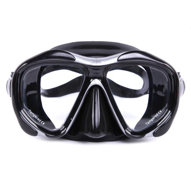 Acqua sport professionale del silicone Gear Scuba Diving Mask attrezzatura snorkeling adulti Anti -Fog Uv impermeabile nuotata / tuffo vetri Uomini Donne