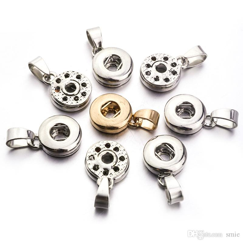 누사 DIY 스냅 버튼 목걸이 팔찌 귀걸이 쥬얼리 액세서리에 대한 실버 골드 컬러 장총, 18MM 진저 스냅 버튼 자료를 청크