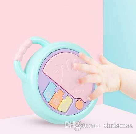 1 stück multifunktions musik licht baby hand klopft drum frühen lernspielzeug für kinder 0-1 jahre alt infant kinderspiele geschenke
