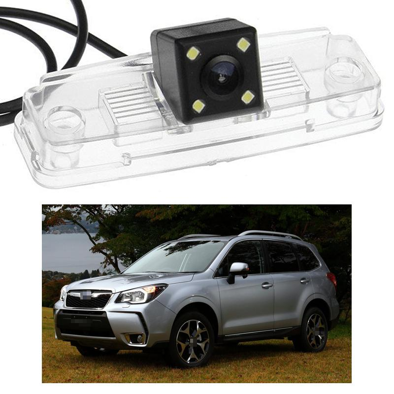 New 4 LED Car Rear View Camera Reverse Backup CCD fit for Subaru Forester 2014 2016 2015