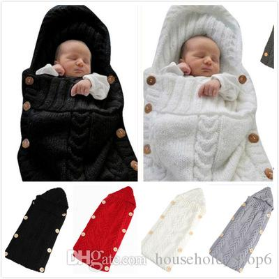 1pc drop ship Newborn Baby Wrap Swaddle Blanket baby Knit Sleeping Bag Sleep Sack Stroller Wrap for Baby toddle knitted blankets (0-6 Month)