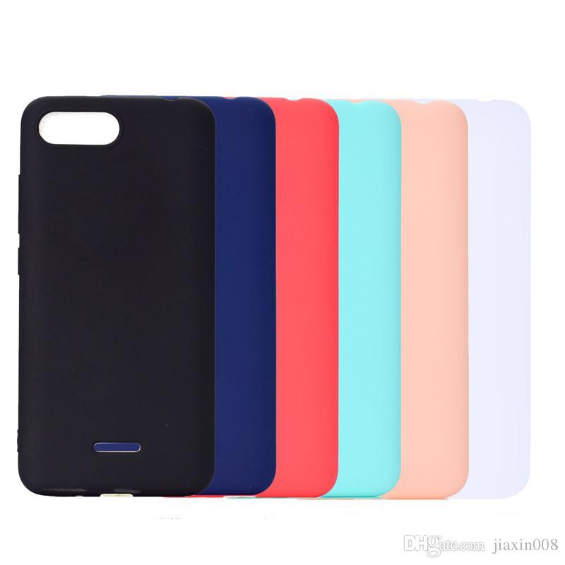 Cubierta del color del caramelo para Xiaomi Redmi 6A caso suave TPU ultrafino diseñador Mobie cajas del teléfono Capinha