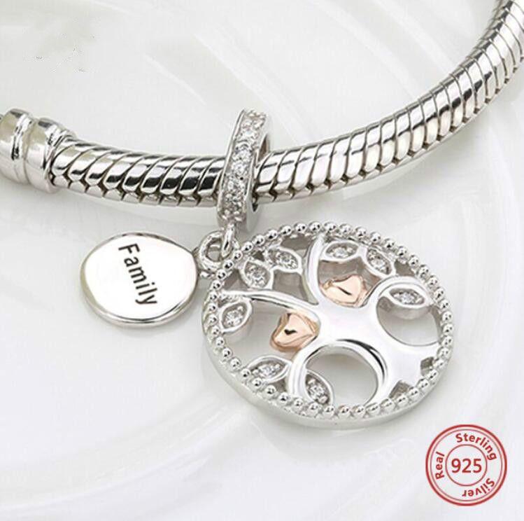 925 encantos de prata família de aquecimento a árvore da vida beads fit autêntico pandora pulseiras jóias fazendo diy presentes do valentim