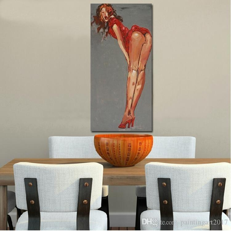 100% Handmade Sexy nude Woman oil paintings Modern Canvas Oil Painting Wall Art Abstract Figure Picture For Bedroom home Decor