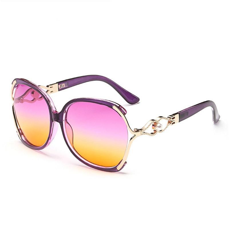 Brand 2018 Hot Sale Casual Women Oversized Sunglasses Vintage Luxury Designer Fashion Eyeglasses Female Sun Glasses
