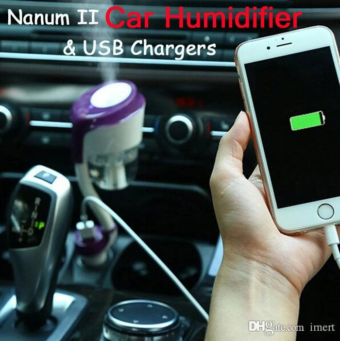 2020 Nanum II USB Ultrasonic Car Air Humidifier Charger Aromatherapy Air Freshener Nebulizer Humidifier Mute Home Air Sterilization & 2017 New From