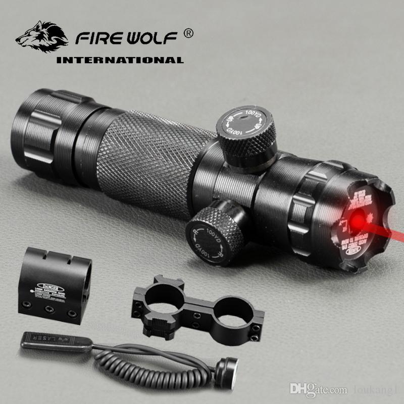 النار الذئب التكتيكية ضبط ريد دوت البصر بالليزر نطاق البندقية مع 2 يتصاعد picatinny القضبان ويفر الصيد نطاقات الهواء لينة
