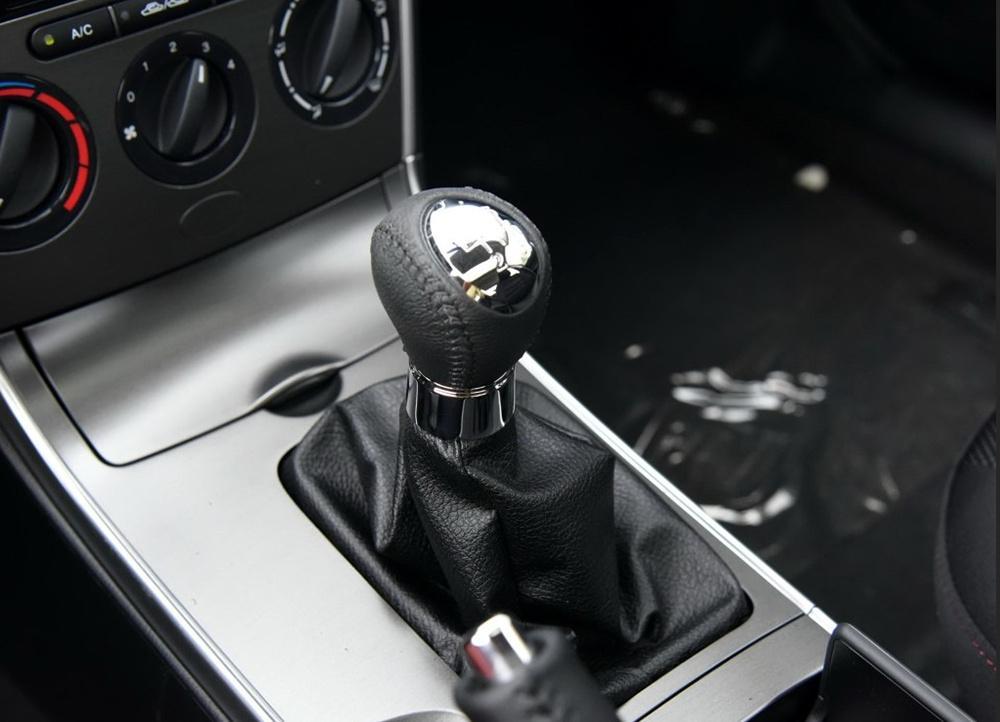 6 Скорость Кожа Хром Ручной Рычаг Переключения Передач Ручка Для Mazda 6 Mazda 5 Mazda 3 Рукоятка Рычага Глава Hanball Стайлинга Автомобилей Аксессуары
